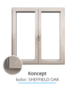 Okno Koncept, kolor: sheffield oak