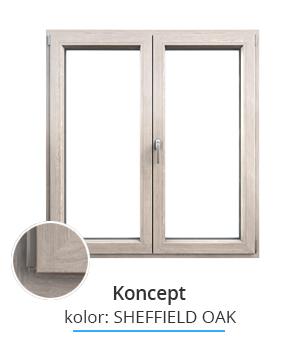 Okno Koncept, kolor: sheffield oak