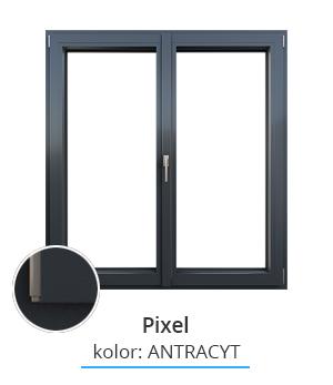 Okno Pixel, kolor: antracyt