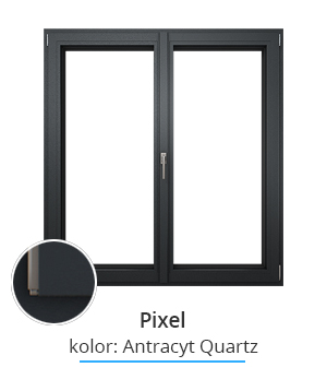 Okno Pixel, kolor: antracyt quartz