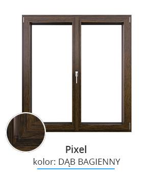 Okno Pixel, kolor: dąb bagienny