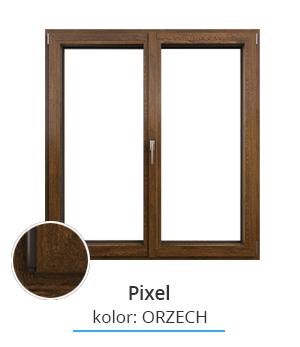 Okno Pixel, kolor: orzech