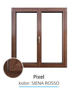 Okno Pixel, kolor: siena rosso