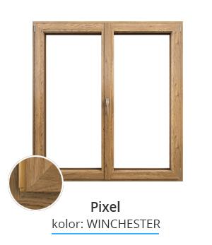 Okno Pixel, kolor: winchester