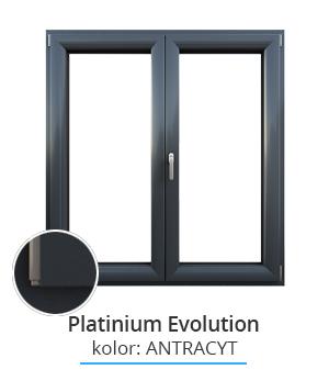 Okno Platinium Evolution, kolor: antracyt