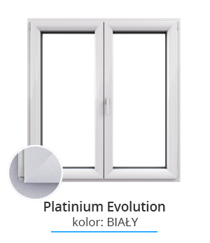Okno Platinium Evolution, kolor: biały