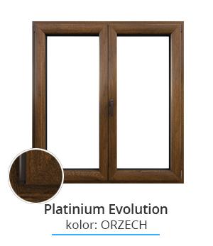 Okno Platinium Evolution, kolor: orzech