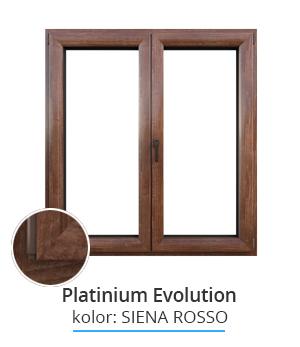 Okno Platinium Evolution, kolor: siena rosso
