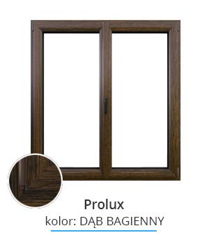 Okno Prolux, kolor: dąb bagienny