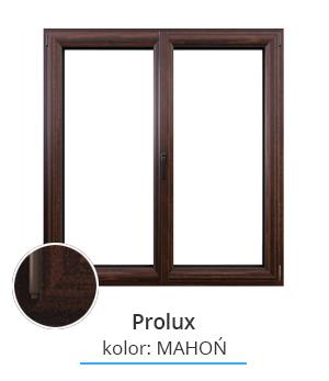 Okno Prolux, kolor: mahoń