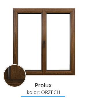 Okno Prolux, kolor: orzech