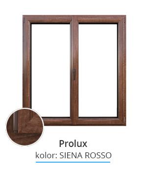 Okno Prolux, kolor: siena rosso