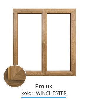 Okno Prolux, kolor: winchester