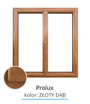 Okno Prolux, kolor: złoty dąb