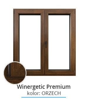 Okno Winergetic Premium, kolor: orzech