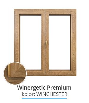 Okno Winergetic Premium, kolor: winchester